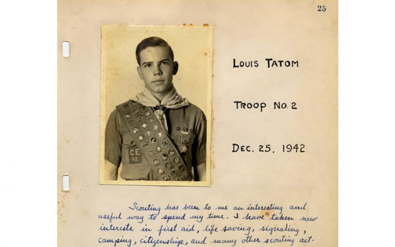 photo of 1942 Eagle Scout Louis Tatom