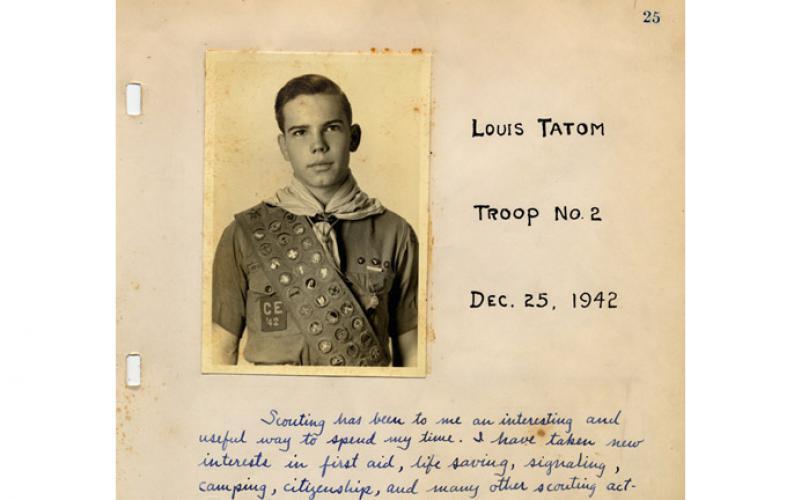 photo of 1942 Eagle Scout Louis Tatom